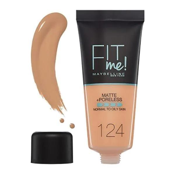 Maybelline Fit Me Matte & Poreless Foundation 124 Soft Sand